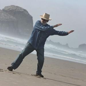 Tai chi on the beach
